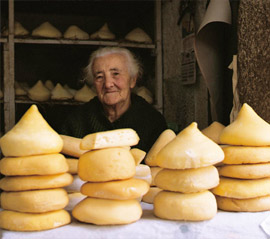 Traditionals cheeses from Spain. Merco